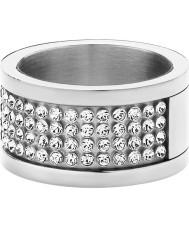 Dyrberg Kern 330961 Dames Emily ii zilveren staal kristallen ring