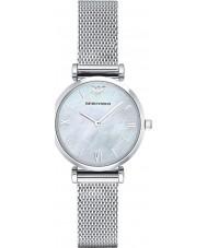 Emporio Armani AR1955 Dames zilveren stalen gaas armband jurk horloge