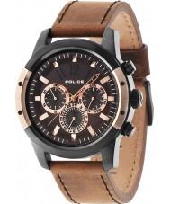 Police 14528JSBR-12 Mens Scrambler bruin horloge