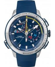 Timex TW2P73900 Mens jacht racer chronograaf blauwe siliconen band horloge
