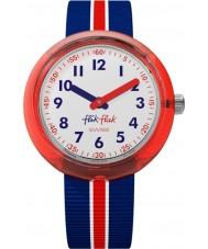 Flik Flak FPNP026 Jongens rode band horloge