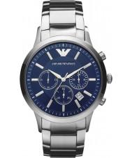 Emporio Armani AR2448 Heren Classic chronograaf blauwe zilveren horloge