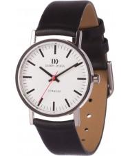 Danish Design V12Q199 Dames zwart lederen band horloge