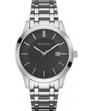 Bulova 96B223 Mens kleden zilveren stalen armband horloge