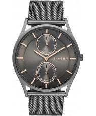Skagen SKW6180 Mens holst gunmetal mesh armband horloge
