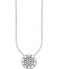 Thomas Sabo KE1493-051-14-L45v Dames zilveren handtekening klassieke zirconia pave ketting