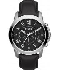 Fossil FS4812 Mens subsidie chronograaf zwart lederen band horloge