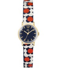 Orla Kiely OK4040 Dames bloem pop rood wit blauw uitbreiden armband horloge