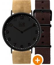 Ice-Watch 001360 Ice-stad exclusieve horloge met beige leder en bruine nylon bandjes