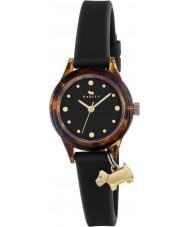 Radley RY2324 Ladies watch it! zwarte band horloge met gouden hoogtepunten