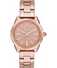 Diesel DZ5502 Ladies nuki rose gouden stalen armband horloge
