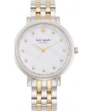 Kate Spade New York 1YRU0823 Ladies monterey zilveren stalen armband horloge
