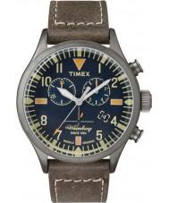 Timex TW2P84100 Mens waterbury bruine lederen band chronograafhorloge