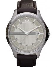 Armani Exchange AX2100 Heren donker bruin lederen band jurk horloge
