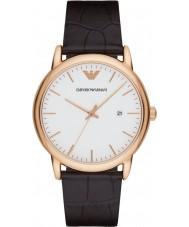 Emporio Armani AR2502 Heren Classic donker bruin lederen band horloge