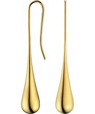 Calvin Klein KJ3QJE100100 Ladies ellips vergulde oorbellen