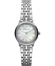 Emporio Armani AR1803 Dames klassieke witte en zilveren horloge