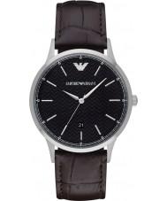 Emporio Armani AR2480 Heren Classic donker bruin lederen band horloge