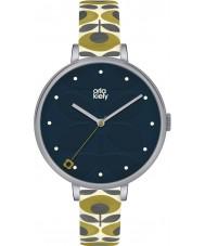 Orla Kiely OK2135 Ladies klimop crème lederen band horloge
