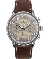 Junghans 027-3684-00 Meister bestuurder bruin chronoscoop automatisch horloge