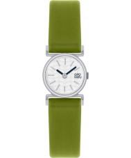 Orla Kiely OK2019 Ladies cecelia groen lederen band horloge