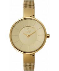 Obaku V149LXGGMG Dames alle gouden mesh armband horloge