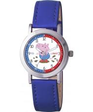 Peppa Pig PP008 Jongens tijd leraar horloge met blauwe pu band