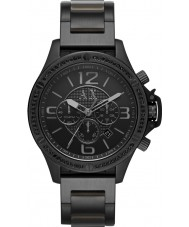 Armani Exchange AX1520 Mannen zwarte ip armband chronograaf sporthorloge