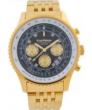 Krug-Baumen 600103DSA Mens air traveler diamond automatisch horloge
