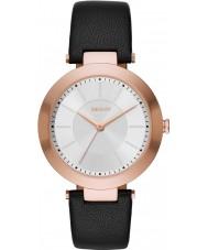 DKNY NY2468 Ladies Stanhope 2,0 zwart lederen band horloge