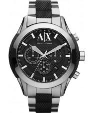 Armani Exchange AX1214 Heren zwart zilver chronograaf sporthorloge