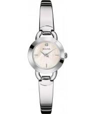 Bulova 96P154 Ladies diamant zilveren staal armband horloge