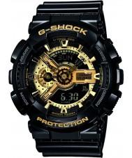 Casio GA-110GB-1AER Mens G-SHOCK zwart kunststof wereldtijd combi horloge