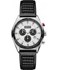 Barbour BB025WHBK Mens boswell zwart lederen chronograaf