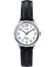 Timex T20441 Dames zilveren zwart gemakkelijk reader horloge