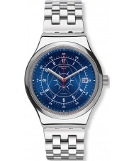Swatch YIS401G Mens sistem boreale zilveren stalen armband horloge