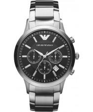 Emporio Armani AR2434 Heren Classic chronograaf zwarte zilveren horloge