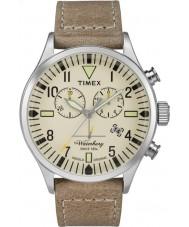 Timex TW2P84200 Mens waterbury bruin lederen band chronograafhorloge