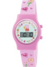 Peppa Pig PP009 Meisjes digitale horloge met roze siliconen band