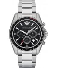 Emporio Armani AR6098 Mannen sporten zilveren stalen armband horloge