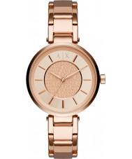 Armani Exchange AX5317 Ladies stedelijke rose goud vergulde armband horloge