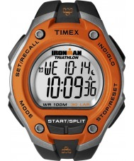 Timex T5K529 Mens oranje zwarte ironman 30 ronde oversized sport horloge