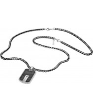 Police 25492PSB-01 Mens hybride zilver stalen ketting