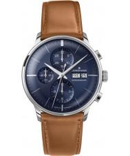 Junghans 027-4526-01 Meister bestuurder cognacbruin chronoscoop automatisch horloge