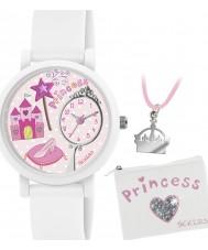 Tikkers ATK1013 Meisjes prinses 3d horloge cadeau set met ketting en portemonnee