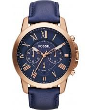 Fossil FS4835 Mens verlenen chronograaf marine horloge
