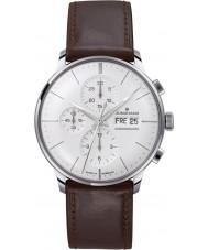 Junghans 027-4120-01 Meister bestuurder bruin chronoscoop automatisch horloge