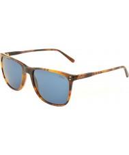 Polo Ralph Lauren Ph4102 55 klassieke flair havana 501.780 zonnebrillen