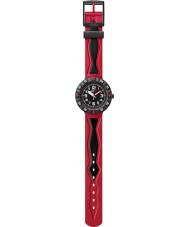Flik Flak FCSP025 Jongens Rosson rood en zwart horloge