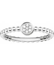 Thomas Sabo D-TR0004-725-14-54 Dames glam en ziel 925 sterling zilveren diamanten ring - Ø (eu 54)